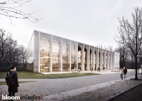 "bloomimages | German Bundestag Visitor and Information Centre (BIZ)"" designed by Kleihues + Kleihues Architects"